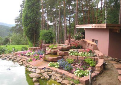 Teichanlage mit König Gunther