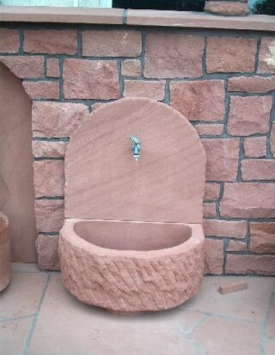 Trog altdeutsch Wandplatte diamantgesägt
