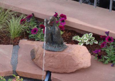 k-Bronzefigur Laufenten klein 27cm H