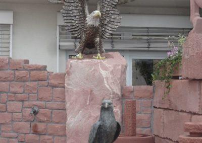 k-Bronzefigur Weißkopf Adler 1,60m H