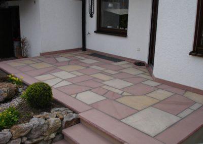 k-Bruchplatten Odenwälder Sandstein Rot & Leistädter Sandstein Gelb