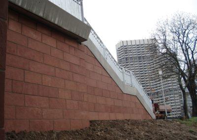 k-Ebertbrücke Mannheim Verblendung gestockt