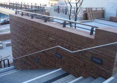 k-Fußgängersteg Weinheim Regelmäßiges Schichtmauerwerk Ansicht bossiert (2)