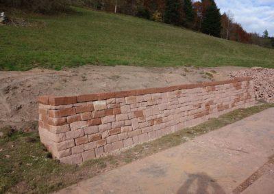 k-Mauersteine als Trockenmauer