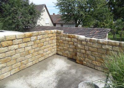 k-Mauersteine bruchrau polnischer Sandstein Gelb