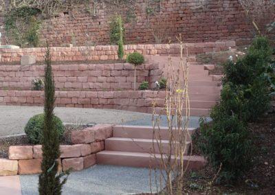 k-Mauersteine gleichmäßig mit Blockstufen diamantgesägt