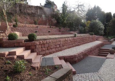 k-Mauersteine gleichmäßg mit Blockstufen
