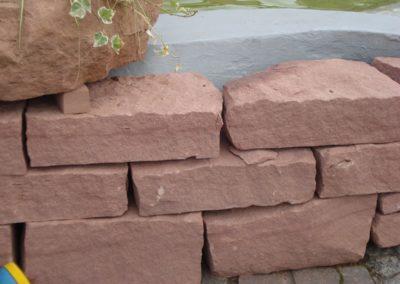 k-Mauersteine trocken