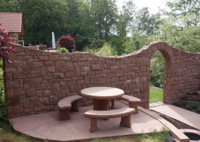k-Mauersteinwand zweiseitig gemauert