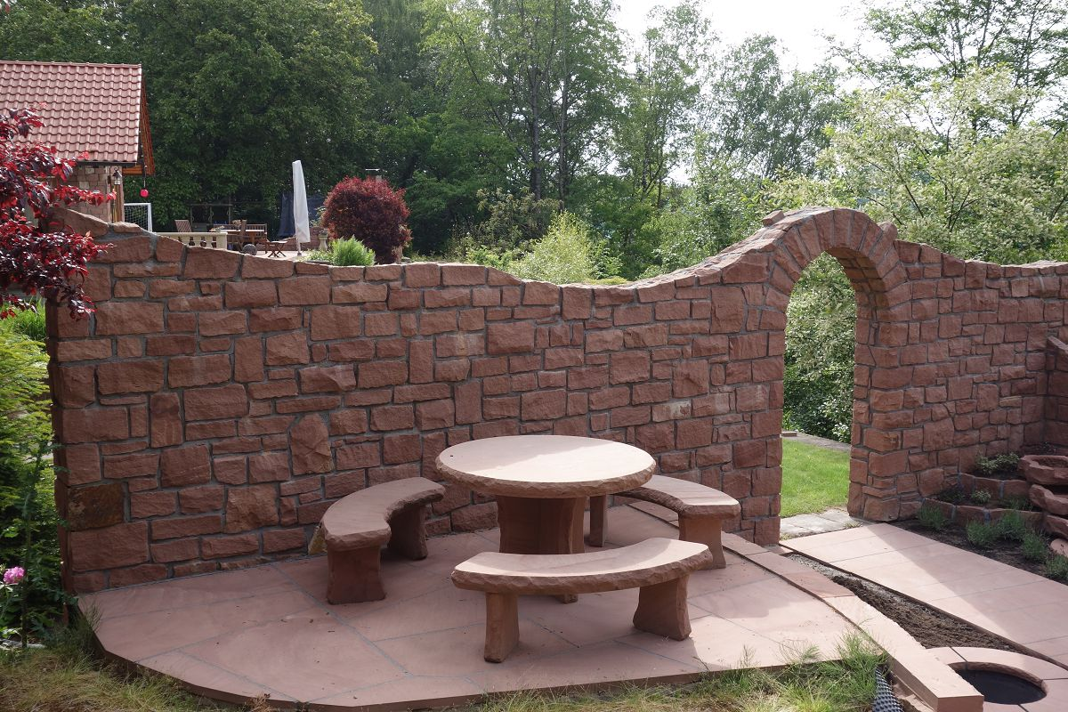 Garten wand gemauert dekoration for Dekoration wand