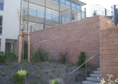 k-Weinheim Verblendmauerwerk hammerrecht